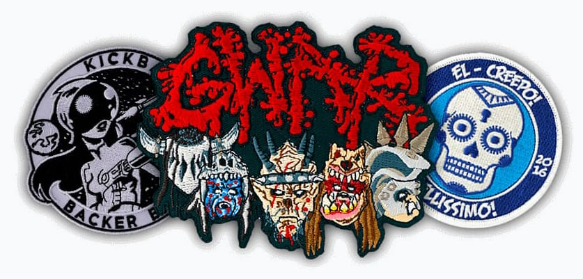 Example Of Custom Patches For Kickback Baker Gwar And El Creepo
